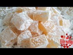 citromos örömére recept - YouTube Turkish Delight, Homemade Candies, Cookie Desserts, Flan, Food Cakes, Cake Recipes, Bakery, Sweets, Breakfast