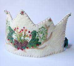 Winter Wool Birthday Crown   by BeneathTheRowanTree