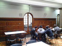 Zonas exterior de biblioteca. #escueladecomerciodesantiago #bibliotecaccs
