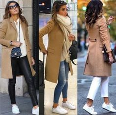 37 Ideas Sneakers Casual Style Camel Coat Source by moira_art style Business Casual Outfits, Casual Winter Outfits, Winter Fashion Outfits, Look Fashion, Autumn Fashion, Winter Outfits 2019, Fall Outfits For Work, Cheap Fashion, Spring Outfits