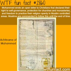 Achtiname of Muhammad -  WTF fun facts