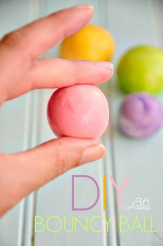 How to make a bouncy ball Tutorial... Kids love making and playing with these! #crafts #kids @Matty Chuah 36th Avenue .com