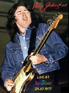 Rory Gallagher-Rockpalast ,Grugahalle, Essen, Germany 1977 poster print