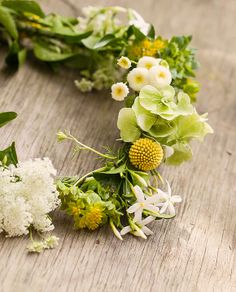 Fresh Lemon and White Flower Crown