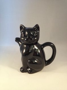 Retro Black Cat Teapot by CuriousCatUK on Etsy, £8.00