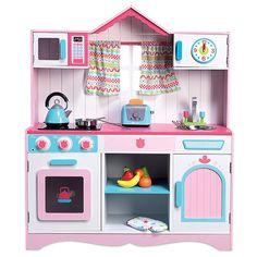 Cocinita de juguete de madera con sonidos Grand Chef Window Kitchen
