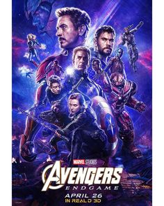 Avengers : Endgame and the MCU Arc. Not that anyone needs convincing, but to get an idea of how awesome The Avengers are, here is a box office chart of their last five movies. Avengers Endgame gave an ROI of nearly Poster Marvel, Marvel Comics, Films Marvel, Marvel Art, Marvel Heroes, Marvel Characters, Captain Marvel, 3d Poster, Captain America