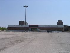 The abandoned Wal-Mart (with telltale colours and label scars) in Morningside Mall, prior to demolition and redevelopment. Willis Tower, Ontario, Abandoned, Mall, Toronto, Bob, Walmart, Colours, Building