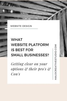 Figuring out your best options when it comes to where you're going to build your site can be daunting. Let's get clear on your options & their pro's & con's