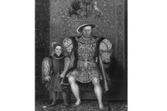 6 Royal Births That Changed The World (Or Could Have), by Amy Licence: http://www.historyextra.com/article/anne-boleyn/6-royal-births-changed-world-or-could-have IMAGE: c1547, Henry VIII with Prince Edward. School of Holbein in the collection at Hampton Court Palace. (Hulton Archive/Getty Images)