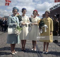 princessofsuffolk: Queen Ingrid of Denmark and her daughters Crown Princess (now Queen) Margrethe, Princess Benedikte, Princess Anne-Marie (now Queen Anne-Marie of Greece), early Princess Alexandra, Crown Princess Mary, Prince And Princess, Greek Royalty, Danish Royalty, Denmark Royal Family, Danish Royal Family, Casa Real, Adele