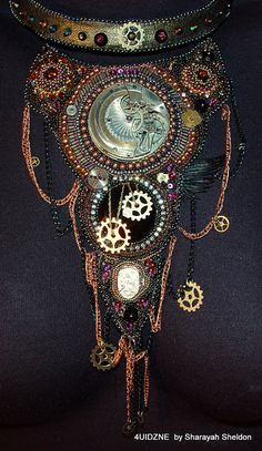 TIC TOC  Bead Embroidery  Neckace by 4uidzne on Etsy, $550.00