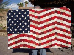 """Old Glory"" I am so proud of this quilt! I have a college age very patriotic grandson who I thought needed this! A huge challenge, but well worth it!"