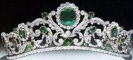 Marie-Therese, Duchesse d'Angouleme Emerald and Diamond Tiara (1819)