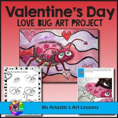 Create a Valentine's Day Love Bug using Oil Pastels and Paint! Your students will really love this! This product is complete with a visual and text step-by-step (each step on its own page with description), a rubric for marking, a heart tracing sheet, and a step-by-step how to draw the love bug to allow your students to create this piece successfully!All art lessons are original ideas by Ms Artastic.