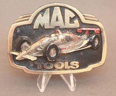 Vintage Mac Tools Belt Buckle By Great American Buckle Co Mac Ma, Vintage Belt Buckles, Tool Belt, Racing, Tools, American, Store, Ebay, Accessories