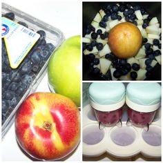 Homemade Baby Food Recipes ~ Blueberries, Peaches & Apples