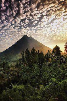 The Dawn Of The Volcano Costa Rica For Premium Canvas Prints