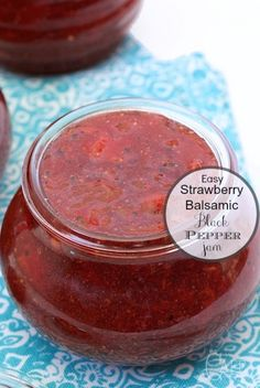 Easy Strawberry Balsamic Black Pepper Jam - oh my, this stuff is amazing! It's sweet, spicy and super delicious!