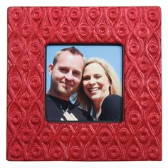 Glittered Square Frame - Click through for project instructions.