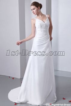 1st-dress.com Offers High Quality Straps A-line Informal Bridal Gown for Beach Wedding,Priced At Only US$189.00 (Free Shipping)