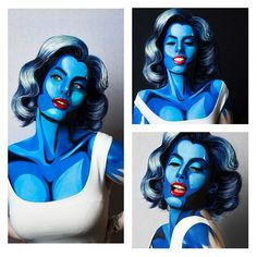 Halloween costume and makeup idea - Marilyn Monroe in Pop Art Style Body Art #halloween #holiday