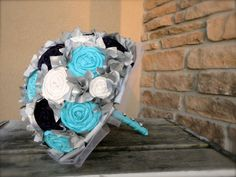 bouquet with half styrofoam ball