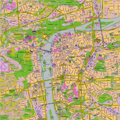 Large map shows the location of Charles Bridge in Prague: Prague Map from Prague Experience - your tourist information guide. Prague Tourist Map, Prague Map, Prague City, Visit Prague, Prague Travel, Tourist Places, Travel Maps, Map Globe, Tourist Information