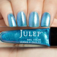 Julep's Iris is an It Girl color with a shimmery finish. It's SO close to holographic, and I love it!