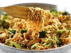 This simple yet addicting Chicken Yakisoba is full of noodles, chicken, and vegetables, and drenched in a sweet and tangy sauce. Step by step photos.