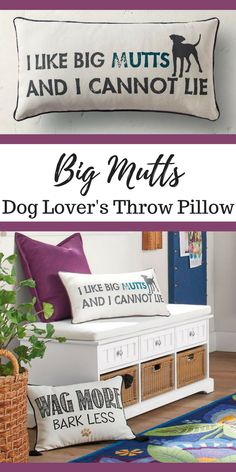 Love this dog lover's throw pillow!  I like big mutts and I cannot lie! Dog Lover   Puppy Love   Dog Gift Ideas #ad #pillow #puppy #puppies #dog #doglovers #homedecor #homesweethome #decor #decoratingideas #decorideas #decorate