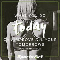 Start improving your tomorrows TODAY! . . . . #mondaymotivation #motivationalmonday #quote #fitnessquote #fitnessmotivation #motivation #inspiration #girlswholift #lifting #weights #gymtime #gym #fitness #bodybuilding #wellness #health #fitfam #getfit #gethealthy #starttoday #yourbestself #gosportsart #today #tomorrow #improvement @ralphmarston