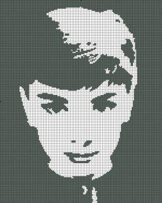 Cross stitch pattern Audrey Hepburn silhouette. $4 on Etsy. Shop: SilhouetteCentral.
