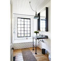 Micro Design Trend Factory Windows aka Black Metal-Framed Doors... ❤ liked on Polyvore featuring home, home decor and white home decor