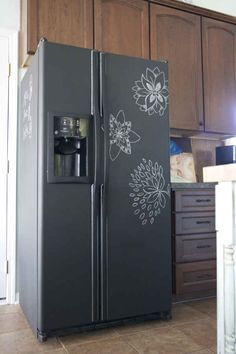 Finally, the nuclear option: Paint your entire fridge with chalkboard paint.