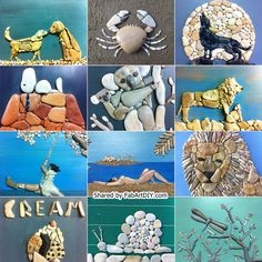 Here is a group of creative stone art design that is really inspiring. You can make cute characters or animals like above for home or garden wall, or garden path, or stone floor mat with them, cool!! image via: sassidautore If you have seen the idea of making the stone mat before as above, or if you missed that but are interested, you can check a list via the link below: icreativeideas – DIY Stone Floor Mat