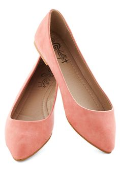 Defined the Scenes Flat in Coral - Coral, Solid, Flat, Variation, Work, Casual, Daytime Party, Minimal, Faux Leather