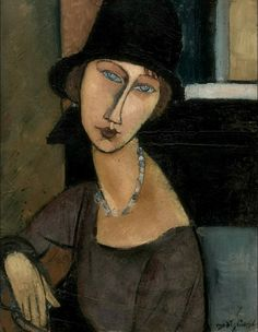 When I know your soul, I will paint your eyes. (Modigliani)  Jeanne Hébuterne 1917