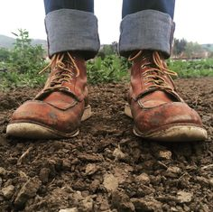 After planting season, time for a resole. #redwingheritage #875 : @aletile