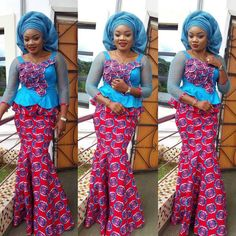 latest ankara skirt and blouse styles for ladies:check out stylish creative skir. from Diyanu - Ankara Dresses, Shirts & Latest African Fashion Dresses, African Print Dresses, African Dresses For Women, African Print Fashion, Africa Fashion, African Wear, African Attire, African Women, African Prints