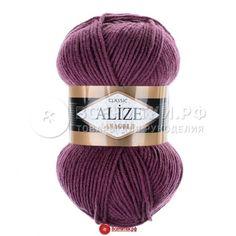 Пряжа Ализе Лана голд (ALIZE Lanagold) №136 виноград 100г/240м 49%шерсть 51%акрил