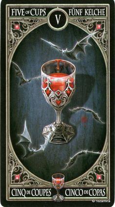 5 de coupes - Tarot gothique par Anne Stokes