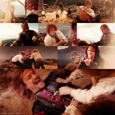 Awww Boromir's face I will always love that part when Merry and Pippin start attacking Boromir, and Boromir just laughs and acts like an adorable father or something. :)
