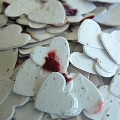 Petalled Heart Shaped Plantable Seed Confetti Value Pack (two 350 piece bags = 700 pieces of seed confetti) , http://www.amazon.com/dp/B005GLQH6E/ref=cm_sw_r_pi_dp_ZEg0rb0MDB3MZ