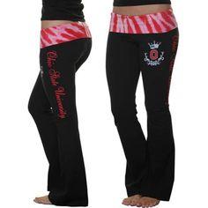 Ohio State Buckeyes Womens Tie-Dye Yoga Pants - Black