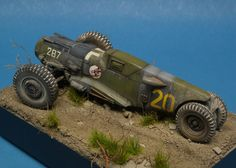 Scale model dieselpunk racer vehicle. Titled: Glühkäfer by Brian Krueger. Pinned by #relicmodels