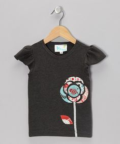Take a look at this Red & Blue Dahlia Tee - Infant, Toddler & Girls by Moxie & Mabel on #zulily today!