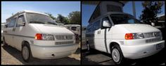 At Pop Top Heaven, you can find quality VW Eurovan and Airstream Interstate Campers. Our used Camper Vans are in great condition, thoroughly cleaned, restored, and road ready! Eurovan Camper, Used Camper Vans, Airstream Interstate, Airstream Campers, Heaven, Paint Ideas, Vw, Restoration, Exterior