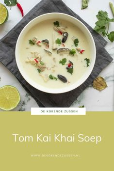 Thai Recipes, Asian Recipes, New Recipes, Soup Recipes, Dinner Recipes, Favorite Recipes, Healthy Recipes, Tom Kha Kai, Garlic Parmesan Potatoes