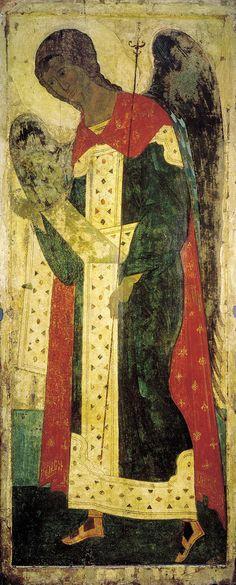 Archangel Gabriel, 1408 Andrei Rublev - by style - Byzantine Archangel Gabriel, Archangel Michael, Byzantine Icons, Byzantine Art, Russian Icons, Russian Art, Religious Icons, Religious Art, Andrei Rublev